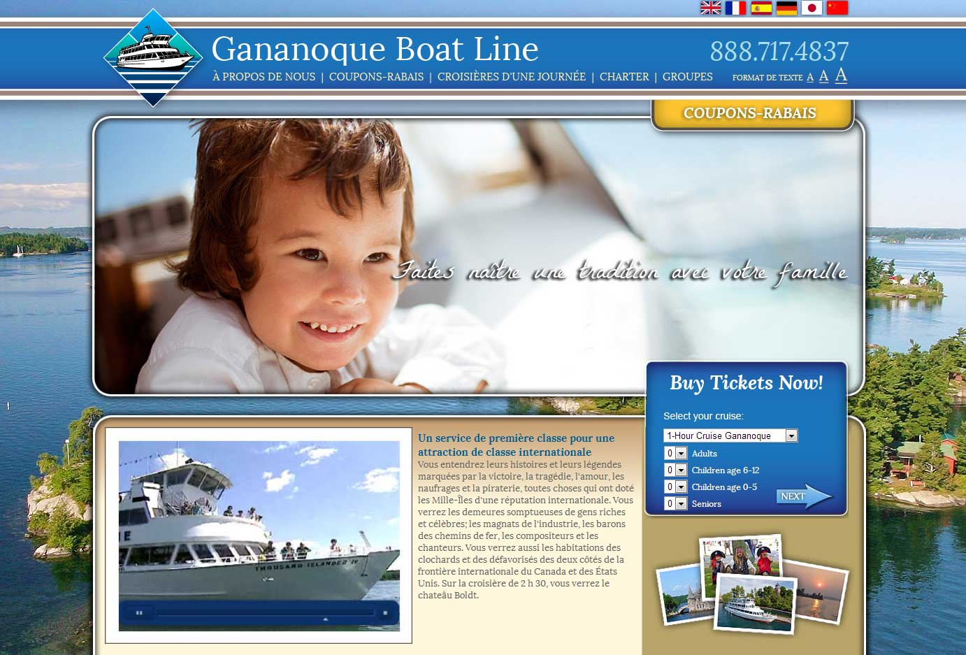 Gananoque Boatlines Website