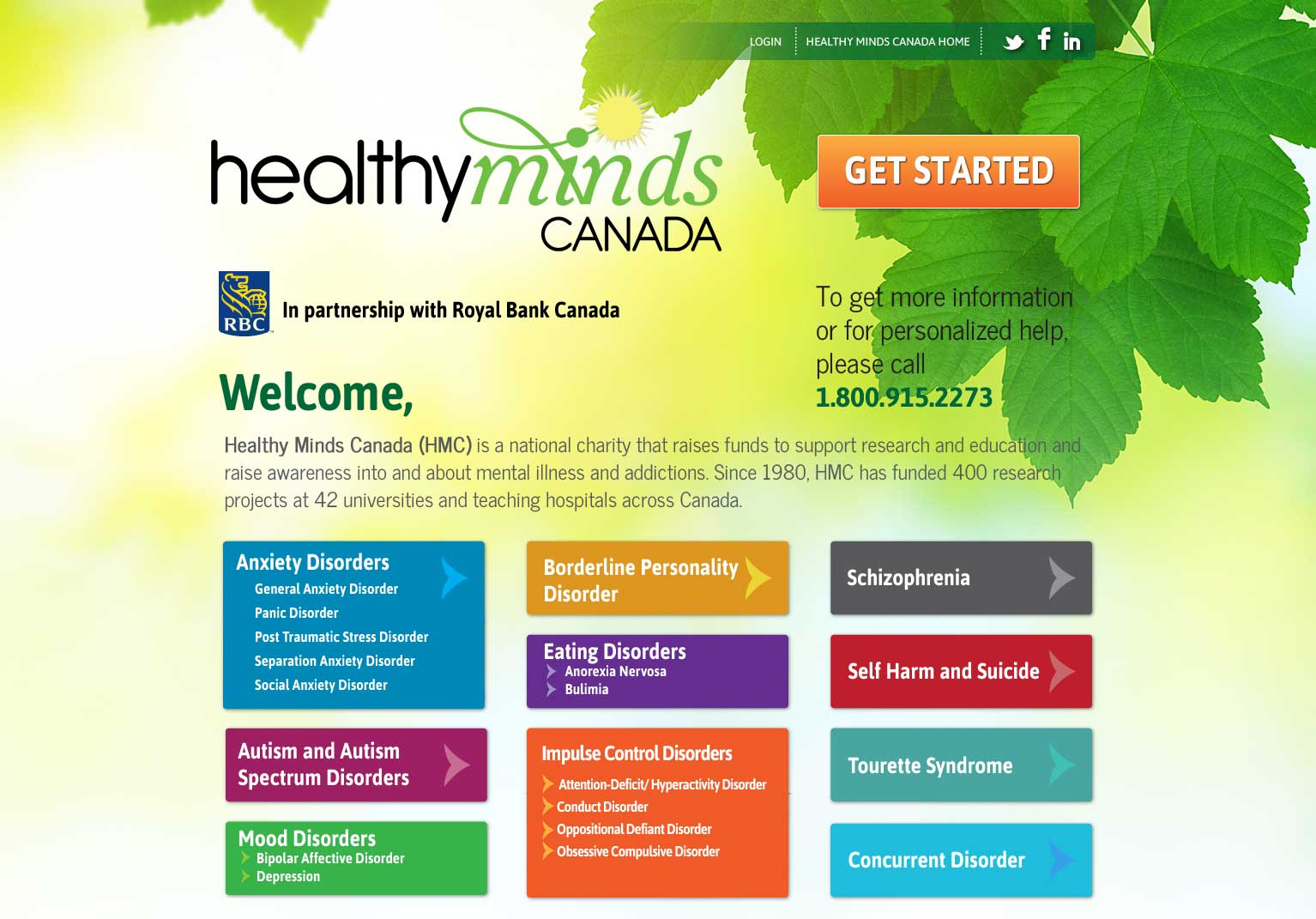 Web Based Assessment Tool for Healthy Minds Canada